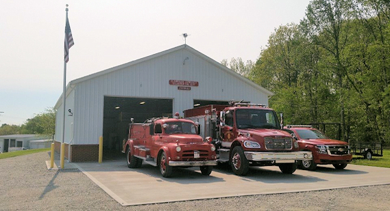 Fire Trucks outside Station