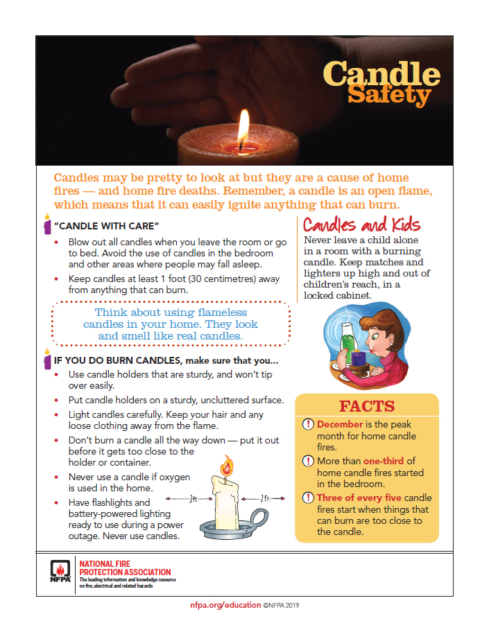 candle safety list
