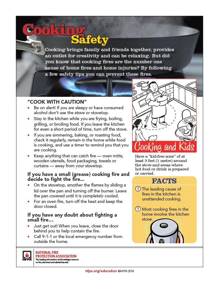 Cooking Safety Sheet
