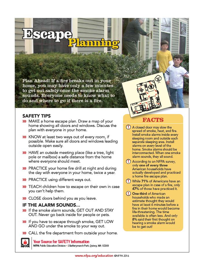 Escape Plans list
